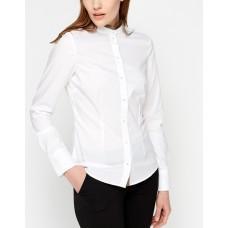 Риза памучна бяла Stripe