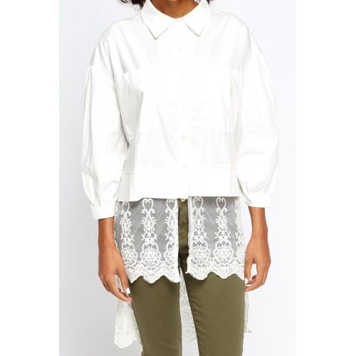 Риза с дантела бяла Inna